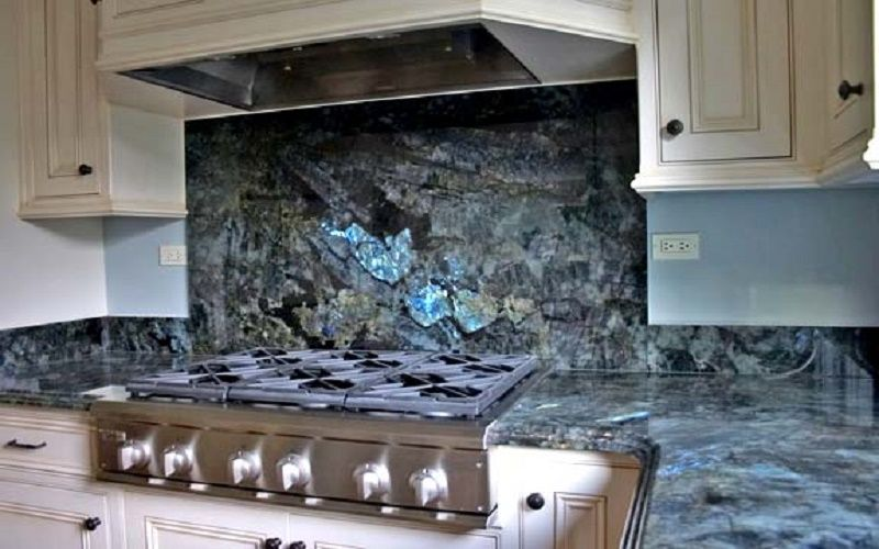 Counter Labradorite Kitchen Backsplash