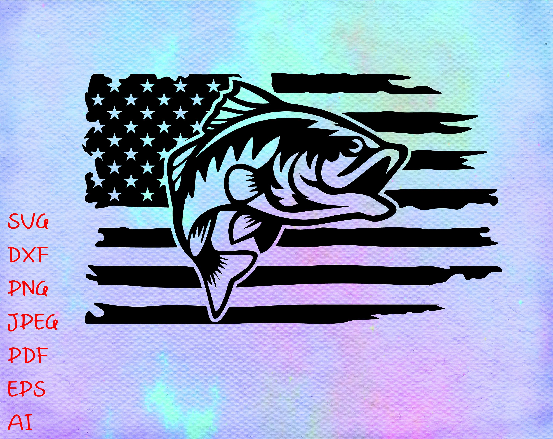 Download Fishing Distressed American Usa Flag Svg Fishing Svg America Etsy Fishing Svg Flag Svg American Flag Svg