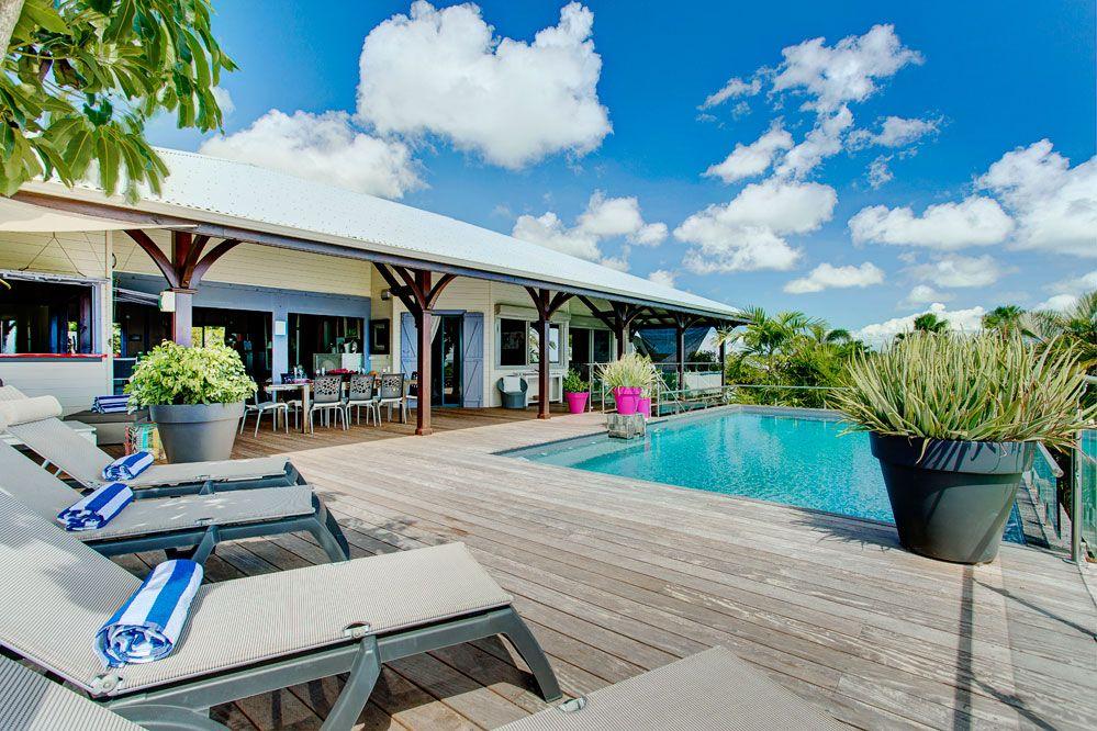 Villa de prestige vue mer avec piscine en Guadeloupe - Vue d - construire sa maison en guadeloupe