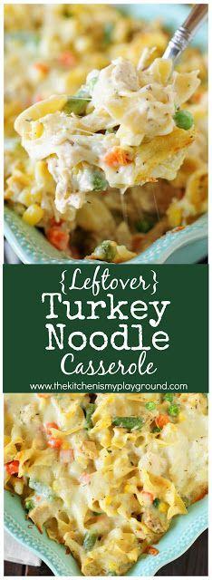 Leftover Turkey Noodle Casserole