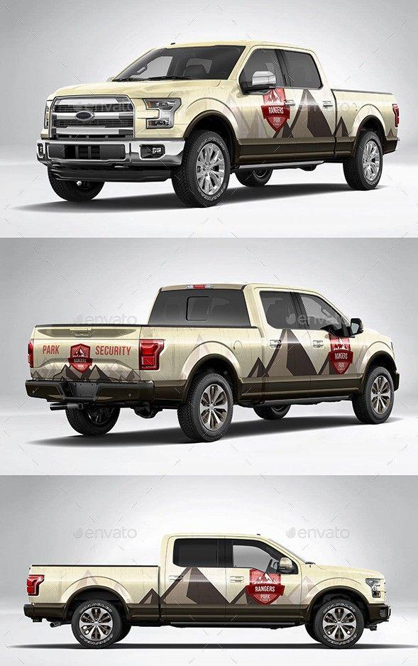 Pick up truck mockup