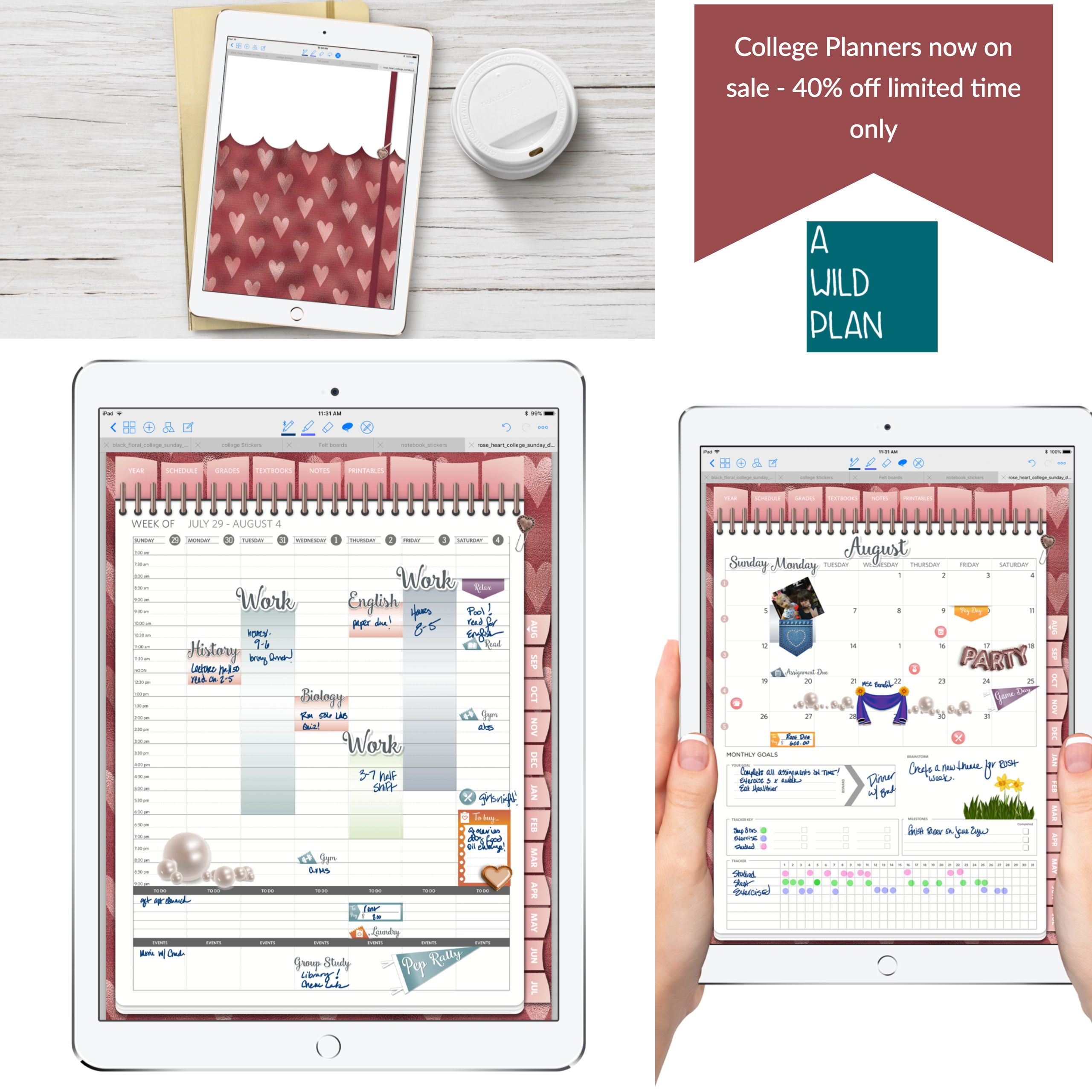 take control of your busy college schedule budget layouts included