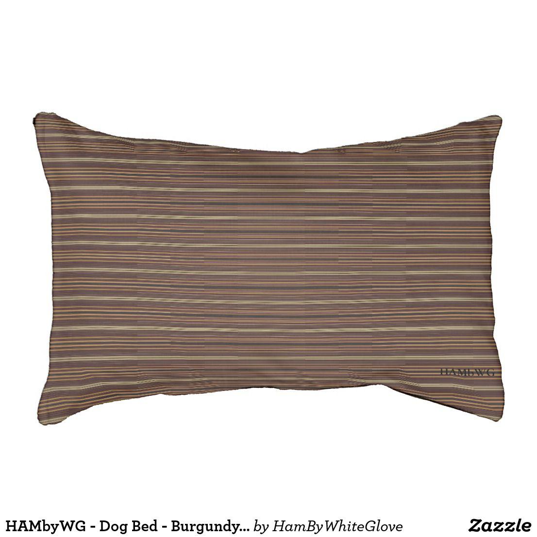 HAMbyWG Dog Bed Burgundy/Tan/Black Matchstick Zazzle