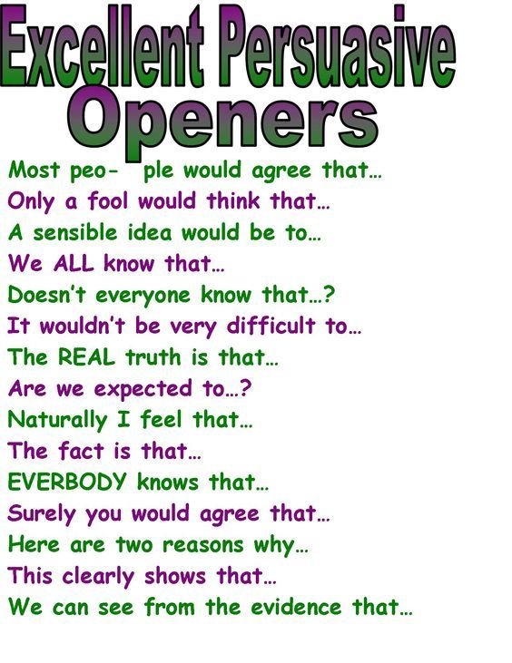 Examples of openers