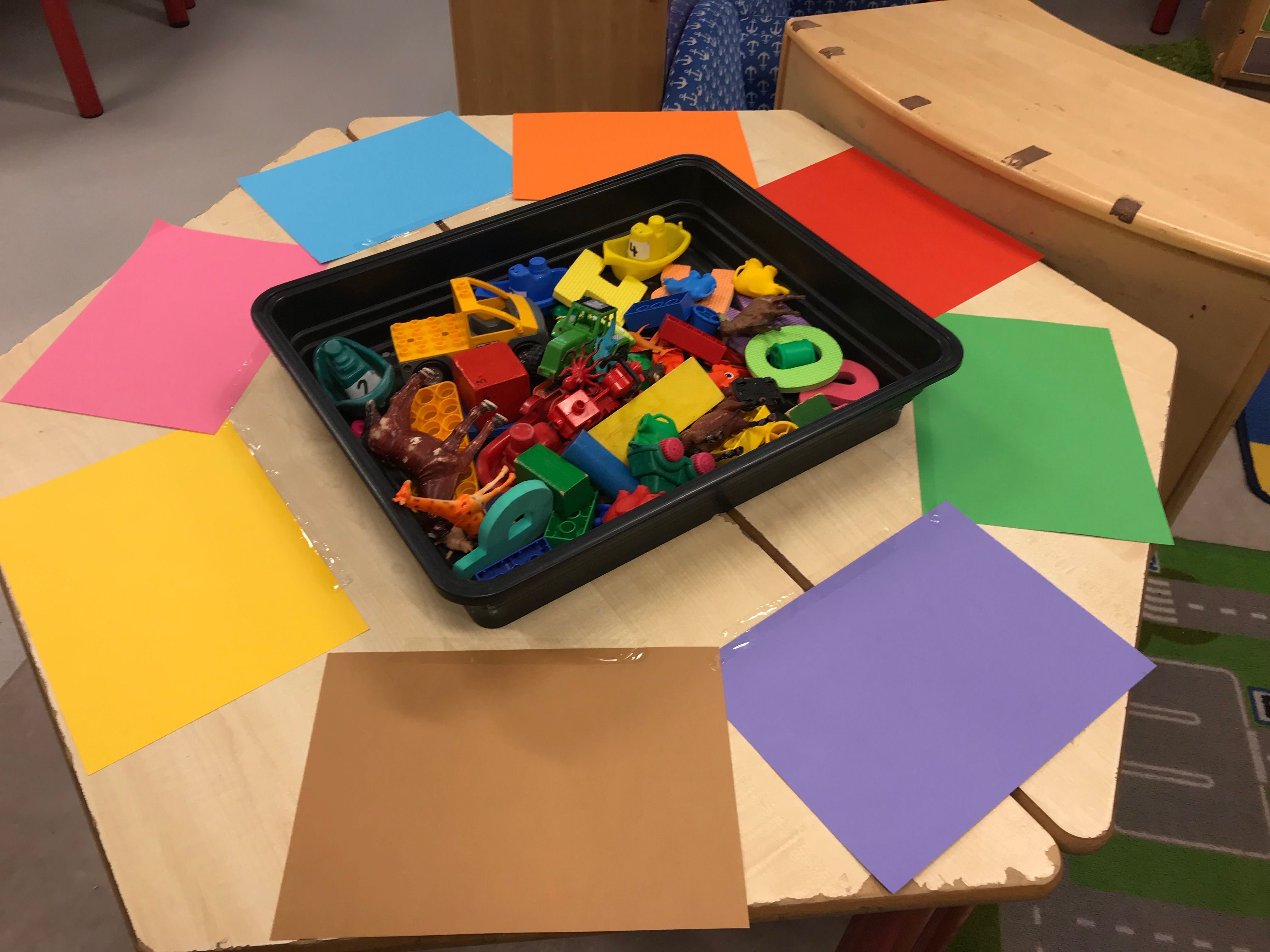 EYFS colour sorting activity | Color sorting activities, Sorting ...