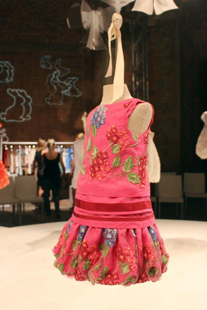 I Pinco Pallino spring 2015, dark pink dress