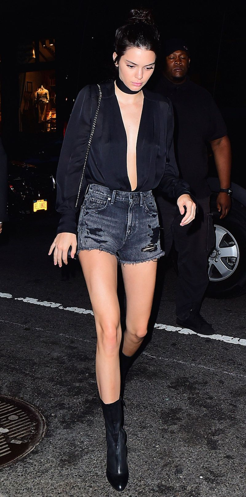 denim shorts night out