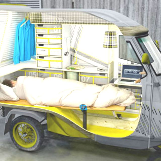Space Saving Cool Camper Scooter Small Campers Tiny Camper Camper