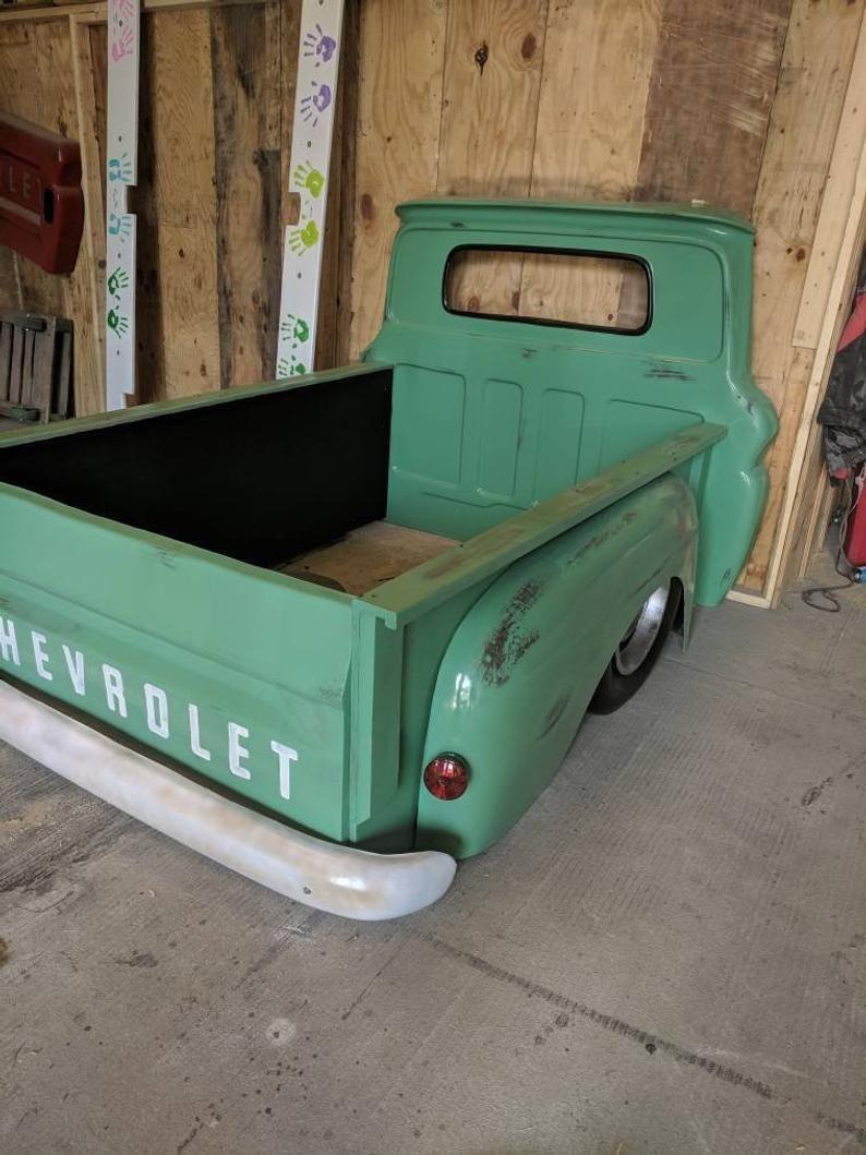 Full size truck bed garage furniture bedroom mancave