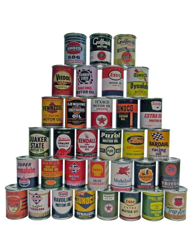 Oil Cans and Racks :: Oil Cans - Vintage Auto Memorabilia | Some ...