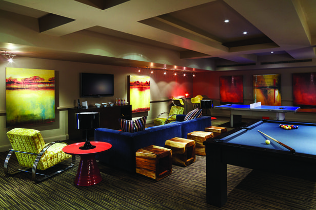 The Game Room At The Dancing Bear A New Kid Friendly Development In Aspen Colorado Dancing Bear Game Room Family Game Room Design Rec Room