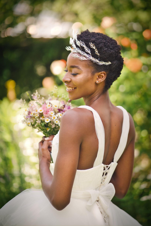 wedding hairstyle for short natural hair  natural hair