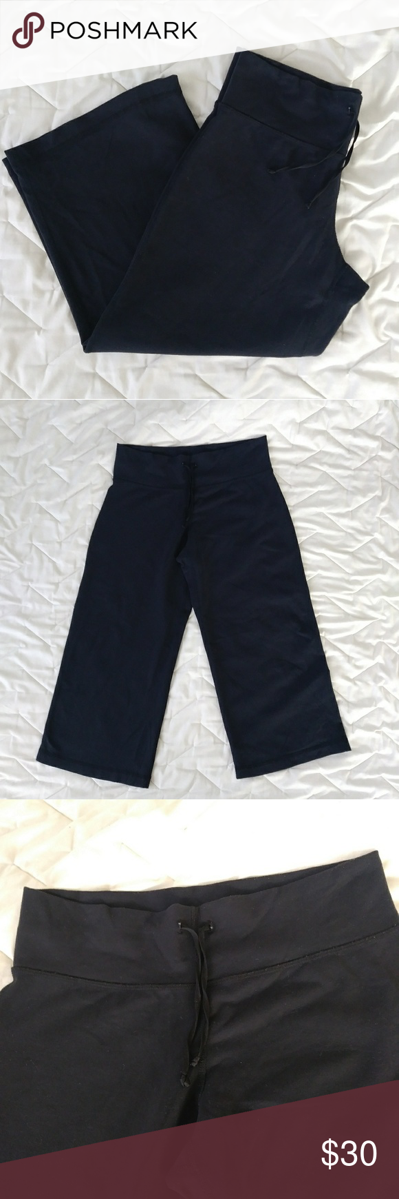 681e003e7 Lululemon gaucho cropped yoga pants capris Very good condition! lululemon  athletica Pants Wide Leg