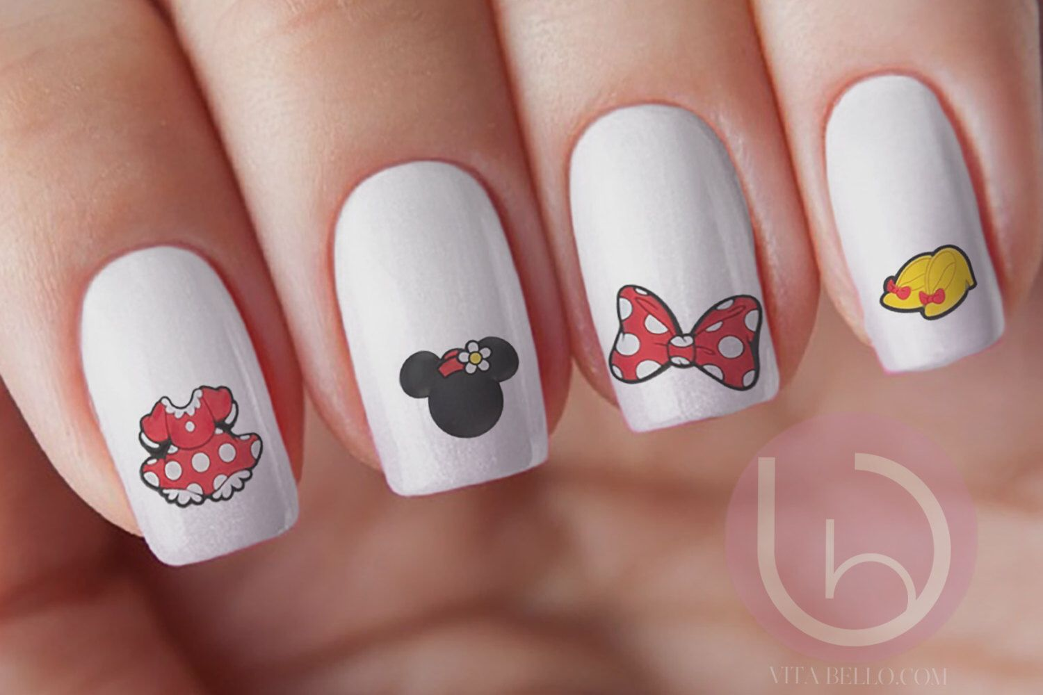 Minnie Mouse Waterslide Nail Decal, Nail Design, Nails, Press On ...
