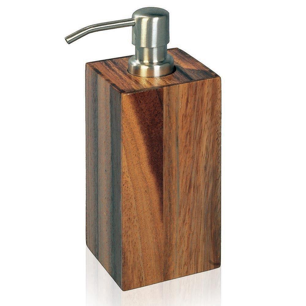 Natural Wood Soap Dispenser Bathroom Accessories Acacia Wood
