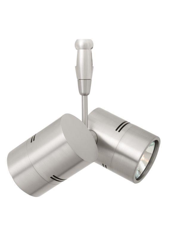 "LBL Lighting Twin Spot Swivel 35W Monorail 2 Light Track Head Satin Nickel with 3"" Stem Indoor Lighting Track Lighting Heads"