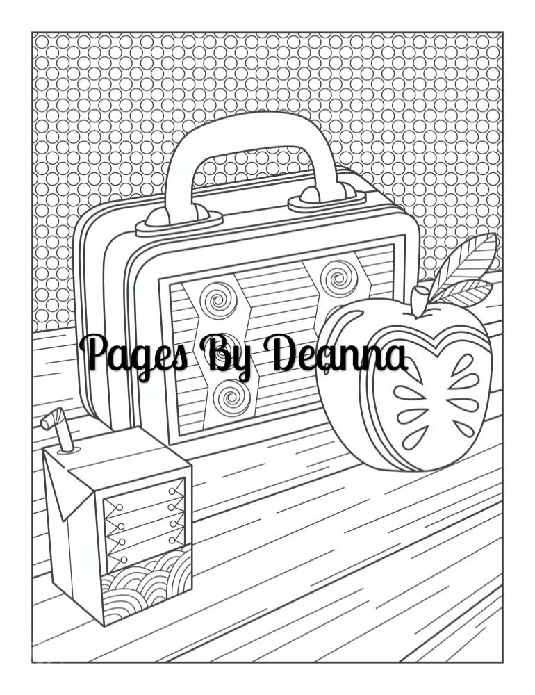 Lunchbox Coloring Page Coloring Pages Color Lunch Box