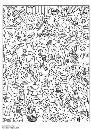 Coloring Page Jean Dubuffet Peinture Celebre Coloriage Image A