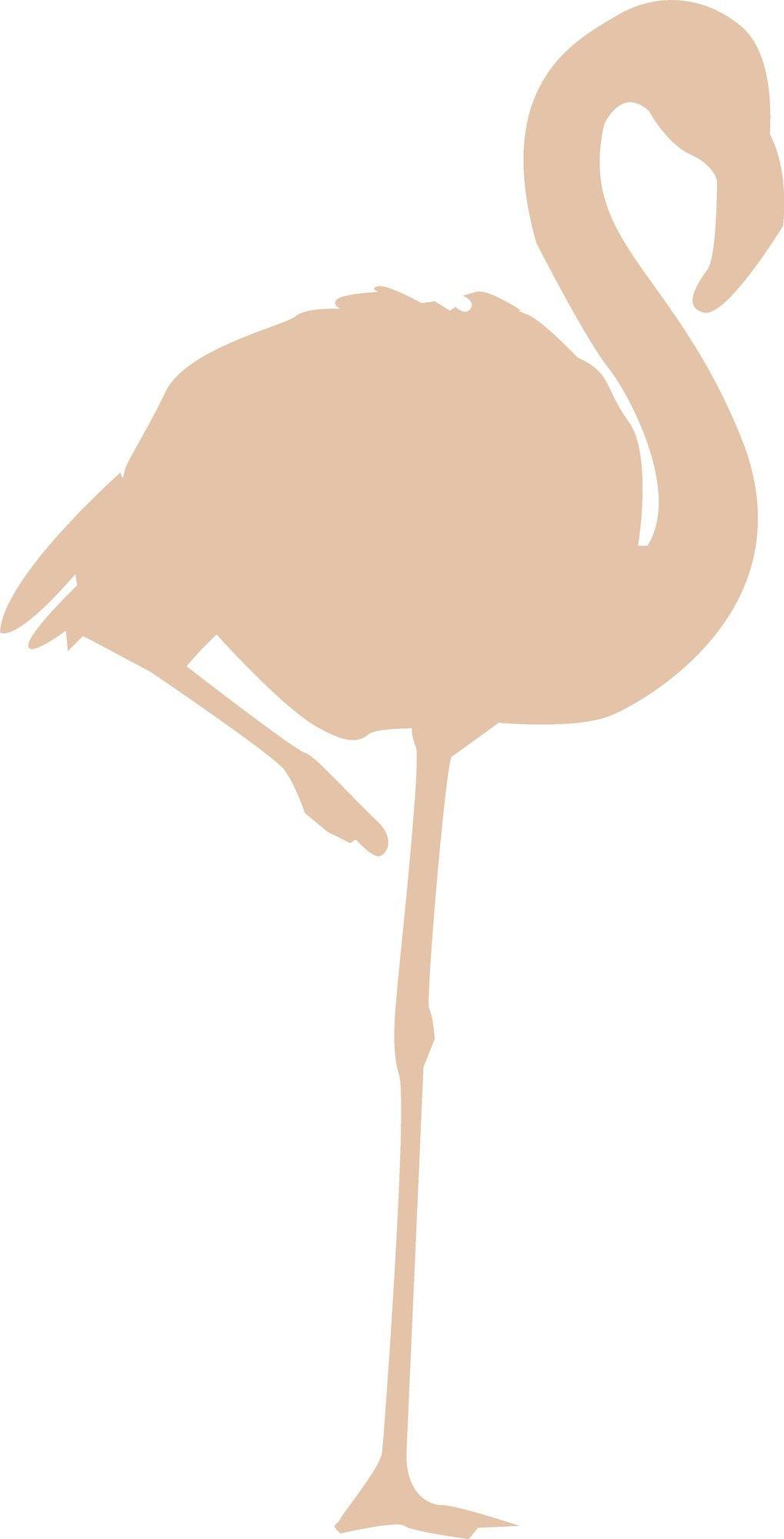 Flamingo Sihouette Cutout Wall Decal