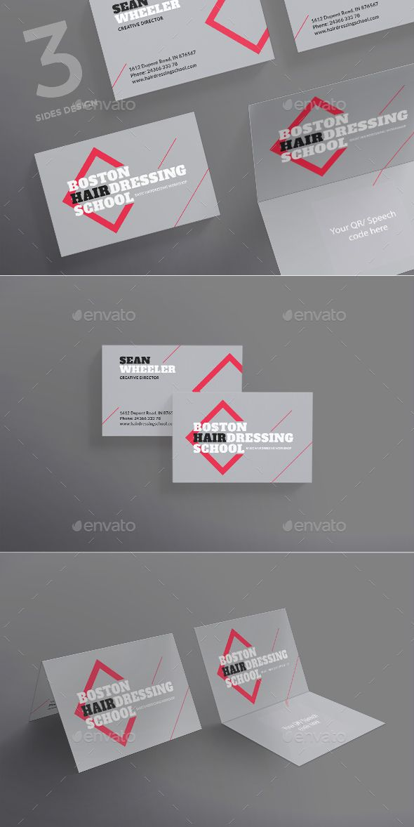Hairdressing School Business Card | Business cards, Card templates ...