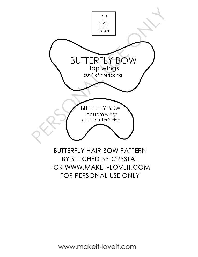 Free Pattern Pieces Bow Template Hair Bows Diy Hair Bows