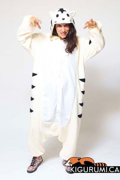 8af893b82c05 White Tiger Onesie Kigurumi Animal Costume Adult Pajamas
