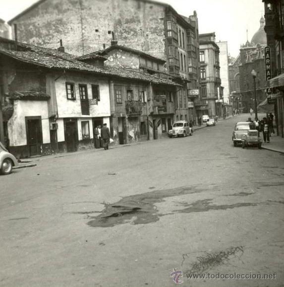 Fotografia Antigua De Asturias Oviedo Calle Palacio Valdes Anos