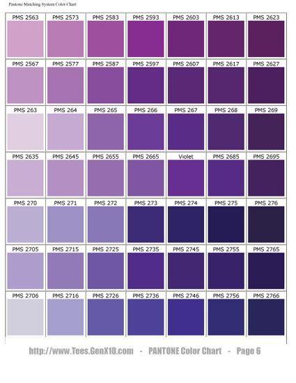 Résultat De Recherche Dimages Pour Nuance De Violet Couleurs