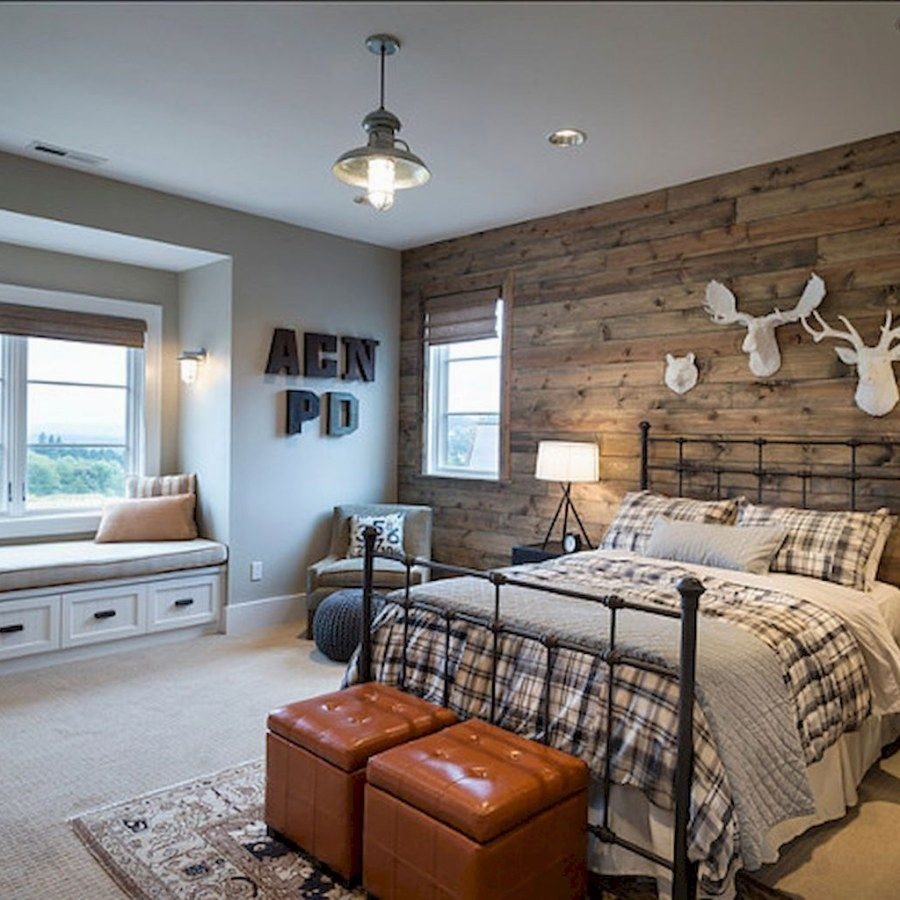 Man Cave Bedroom: Lovely Country Style Bedroom Transformation Designs You