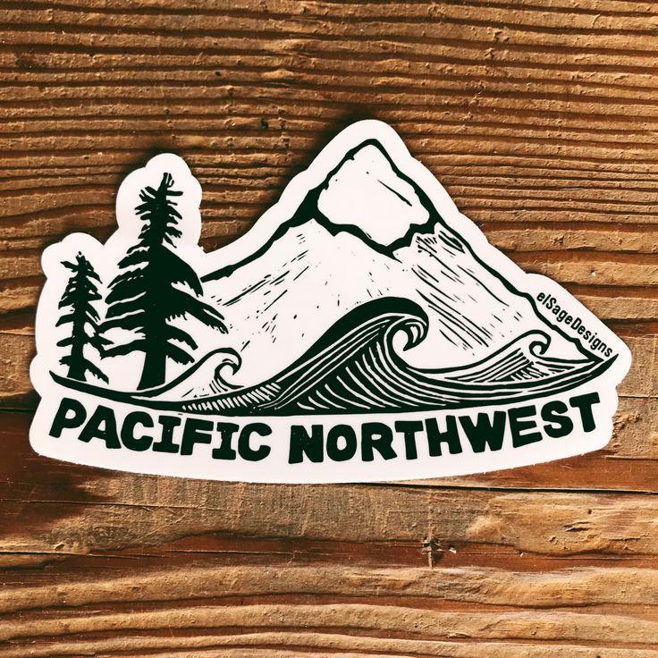 Pacific Northwest Sticker Pacific northwest tattoo