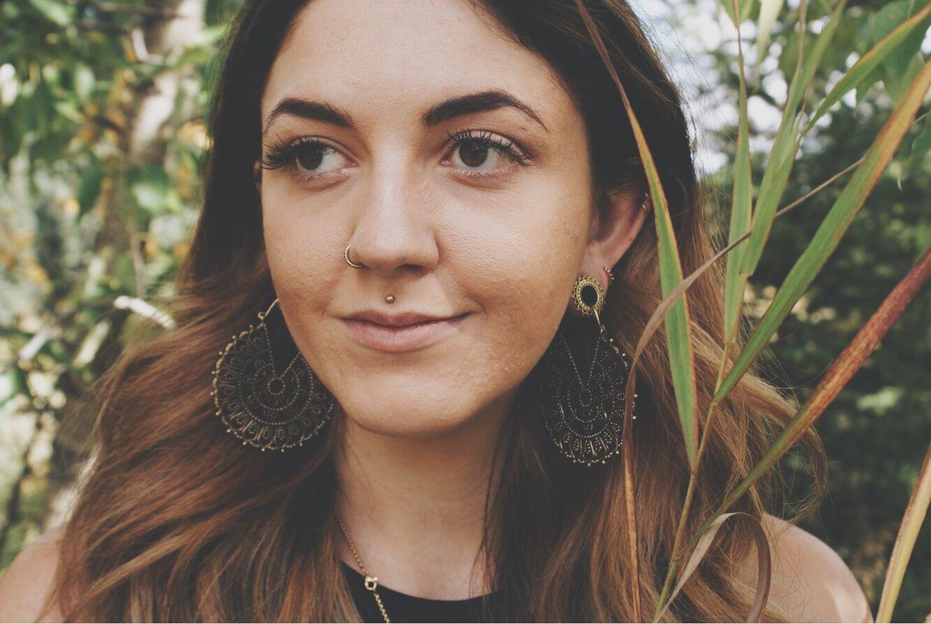 Pin On Brass Hoop Earrings