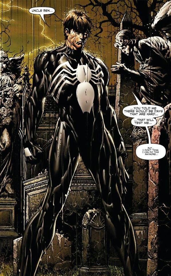 Black Spiderman Comic spider-man back...