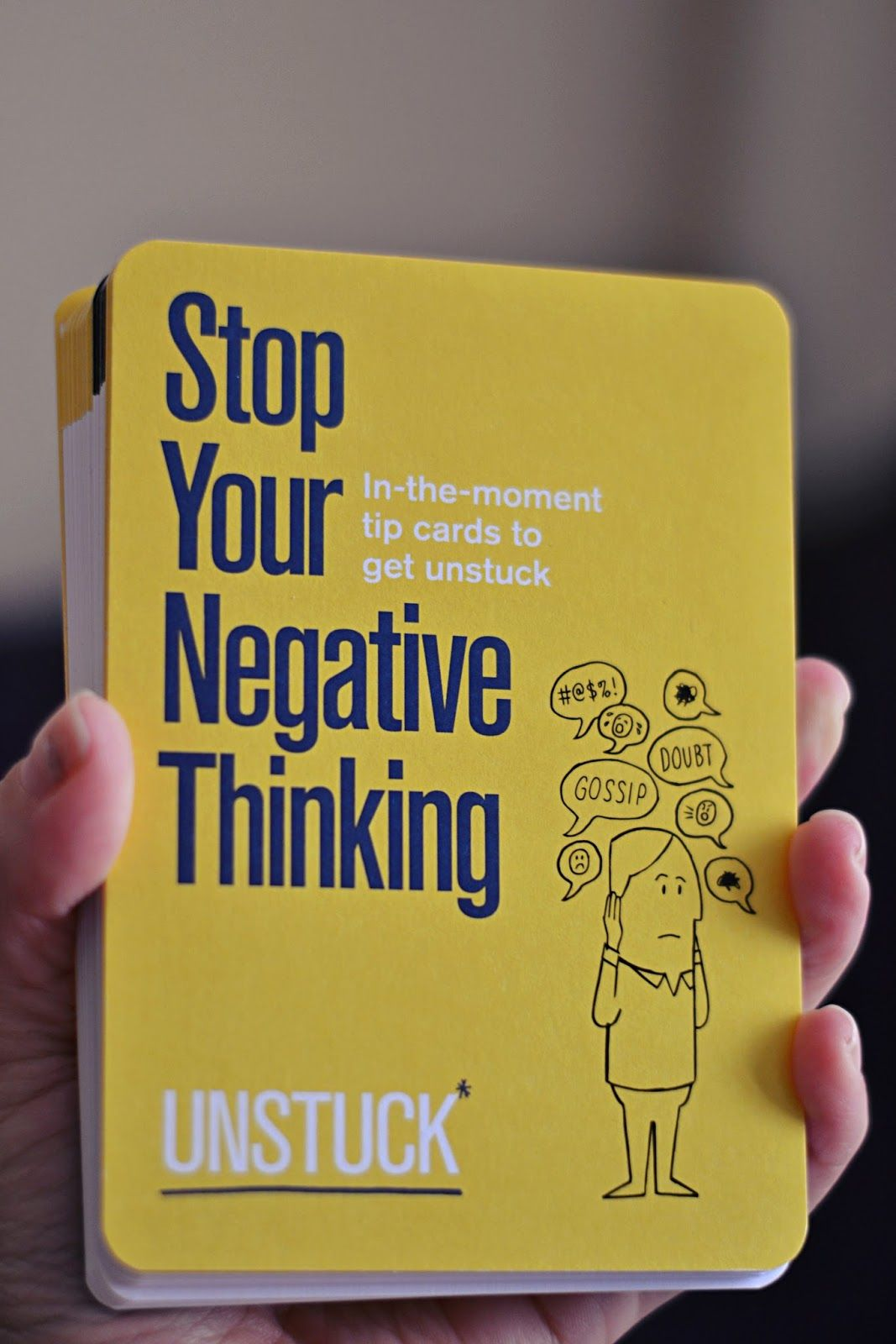Uncommongoods Stop Your Negative Thinking Tip Cards