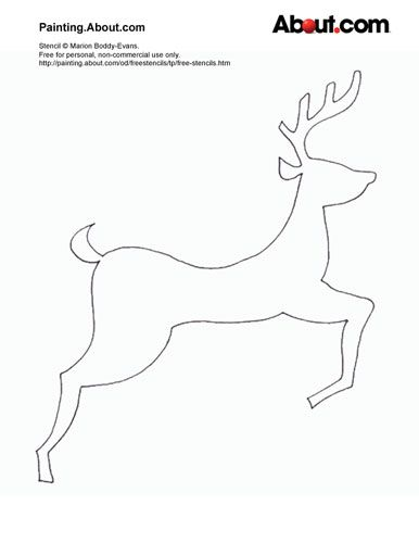 free christmas stencils - Holiday Stencils Free Printables