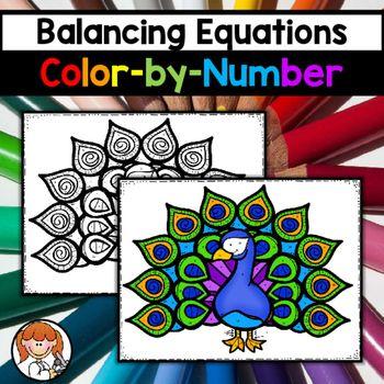 Balancing Equations ColorbyNumber  Balancing Equations
