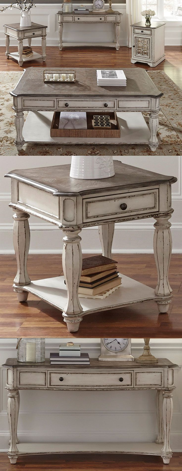 The Magnolia Manor Rectangular Cocktail Table with Casters by Liberty Furniture at Great American Home Store in the Memphis, TN, Southaven, MS area. #ShopGAHS