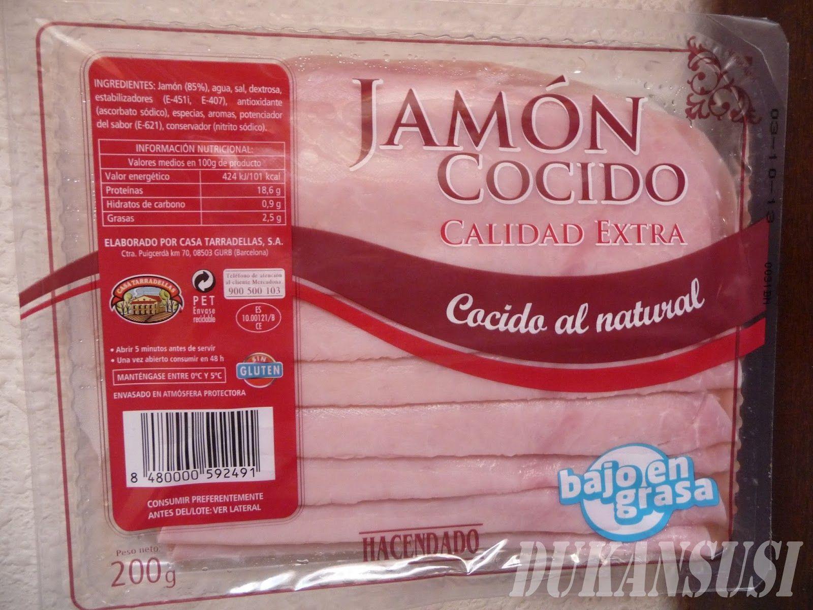 Jamon Cocido Al Natural Comprado En Mercadona Sin Lactosa Ni
