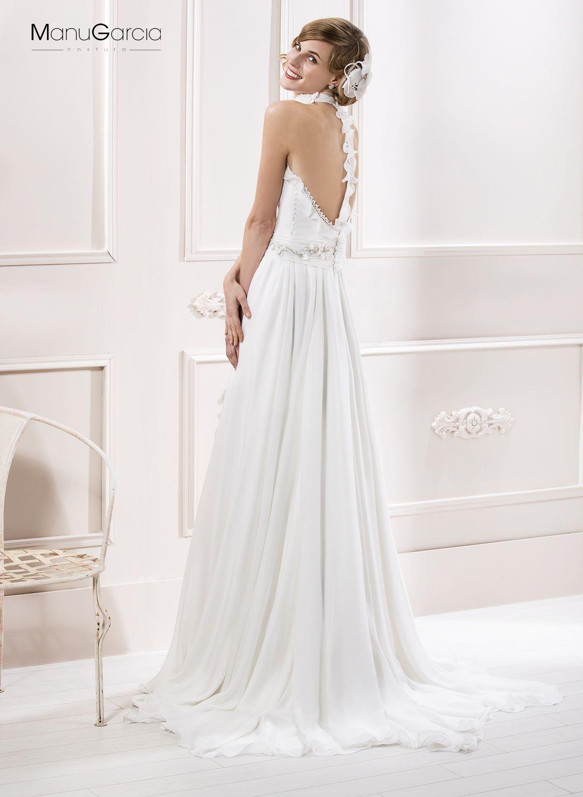 Vestido novia falda gasa