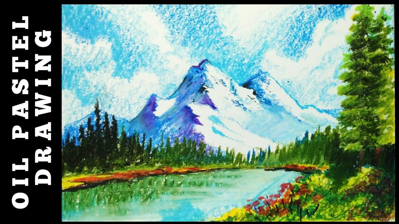 Landscape Drawing With Oil Pastels Beginners Oil Pastel Drawing Sc Drawing Scenery Oil Pastel Pastel Landscape