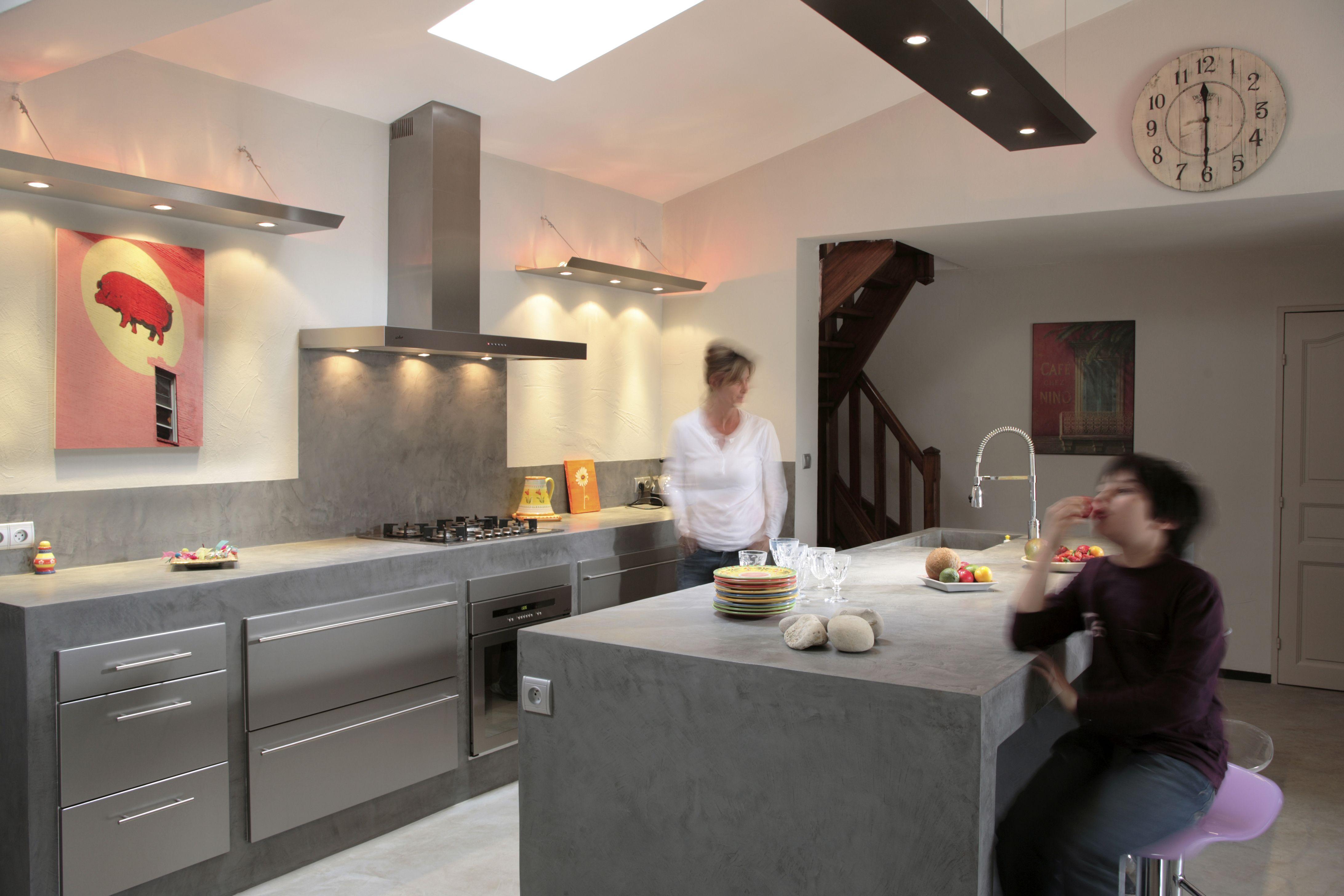 Kitchen kitchen cocina pinterest imagenes de google b squeda de im genes y de google - Cocina cemento pulido ...