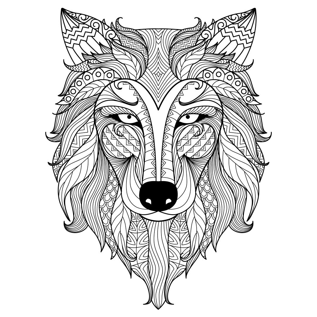 Wolf Coloring Pages Animal Coloring Pages Abstract Coloring