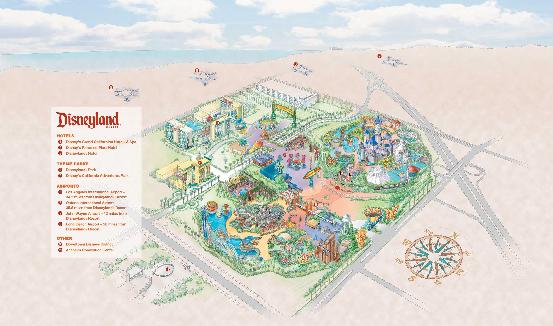 Simplified Aerial Of Disneyland California Adventure