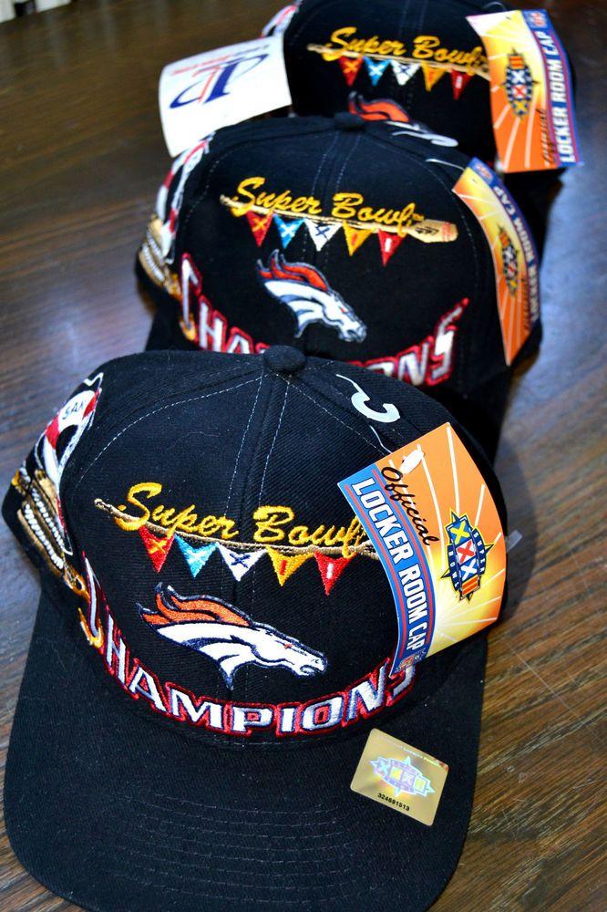 3 Lot Denver Broncos 1998 NFL Super Bowl 32 XXXII Vintage Snap Back Hat Cap  NWT  LogoAthletic  DenverBroncos 0fa397f5a