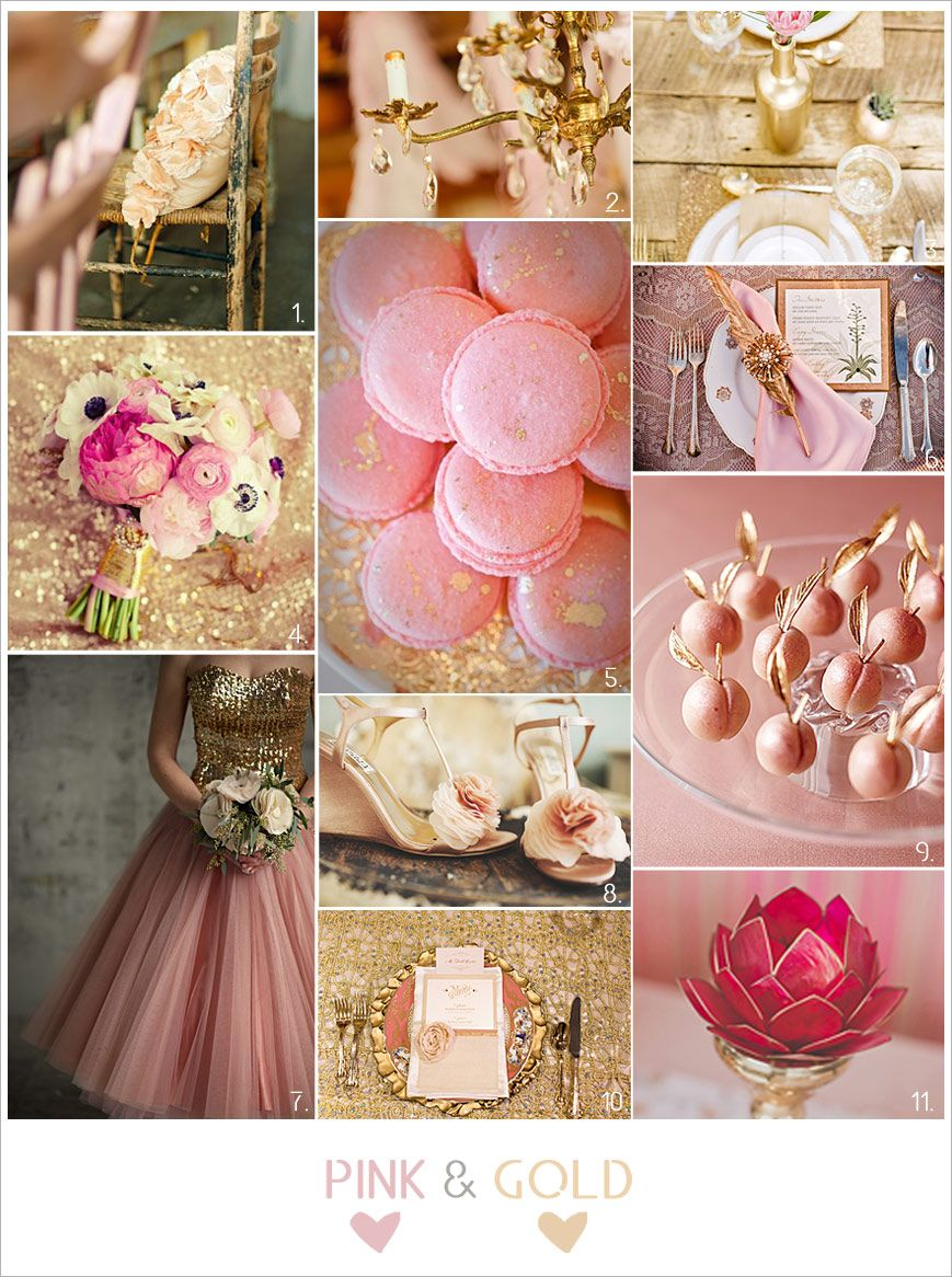 Bodas en rosa y dorado. Inspiración. | Vintanged Themed Wedding ...