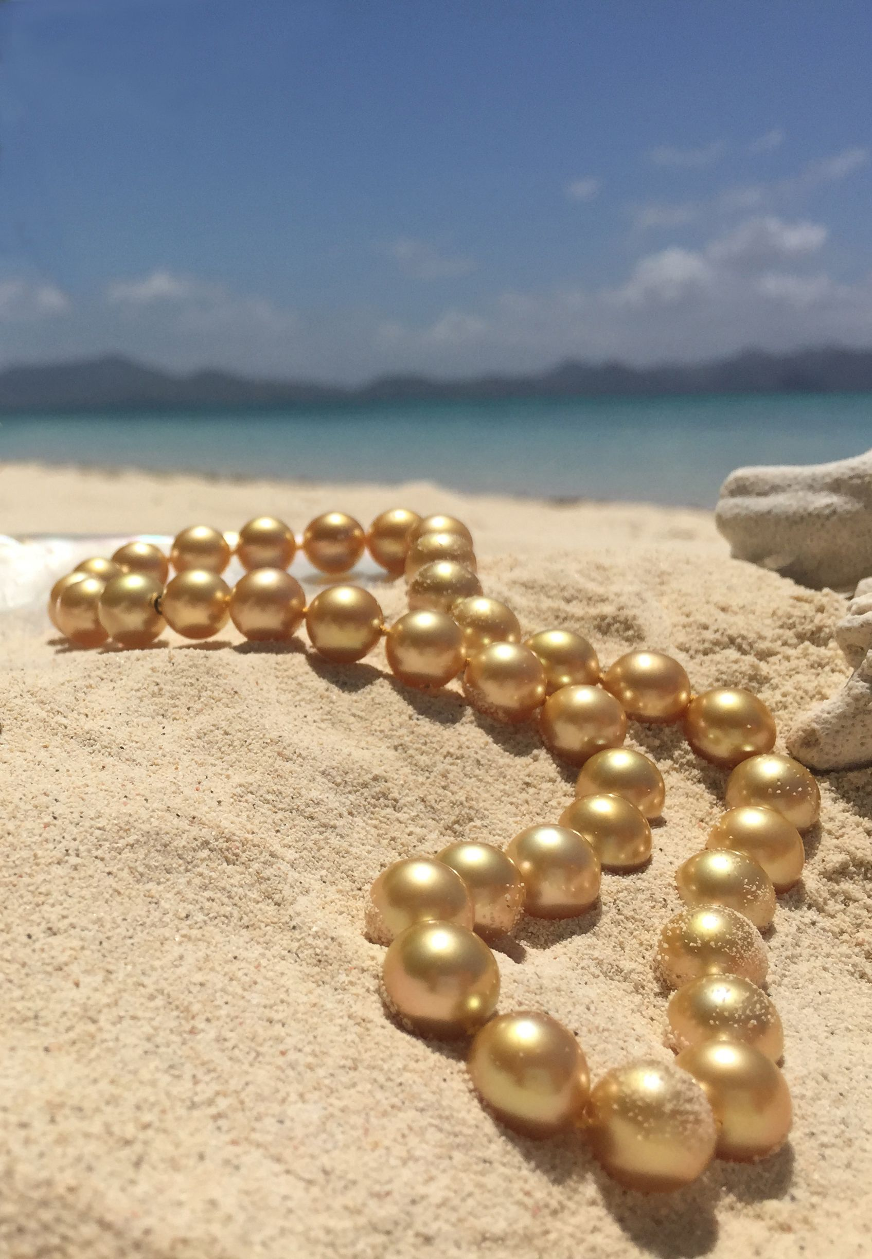 golden sea pearl yellow clasp with gold pearls strand south copy