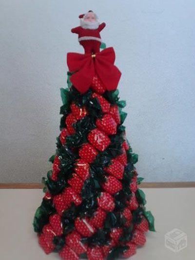 Wie man Weihnachtsbaum mit Süßigkeiten macht