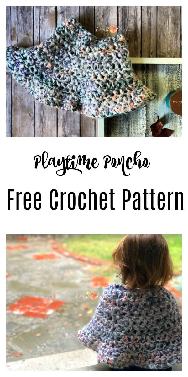 Playtime Poncho Free Crochet Pattern - ChristaCoDesign