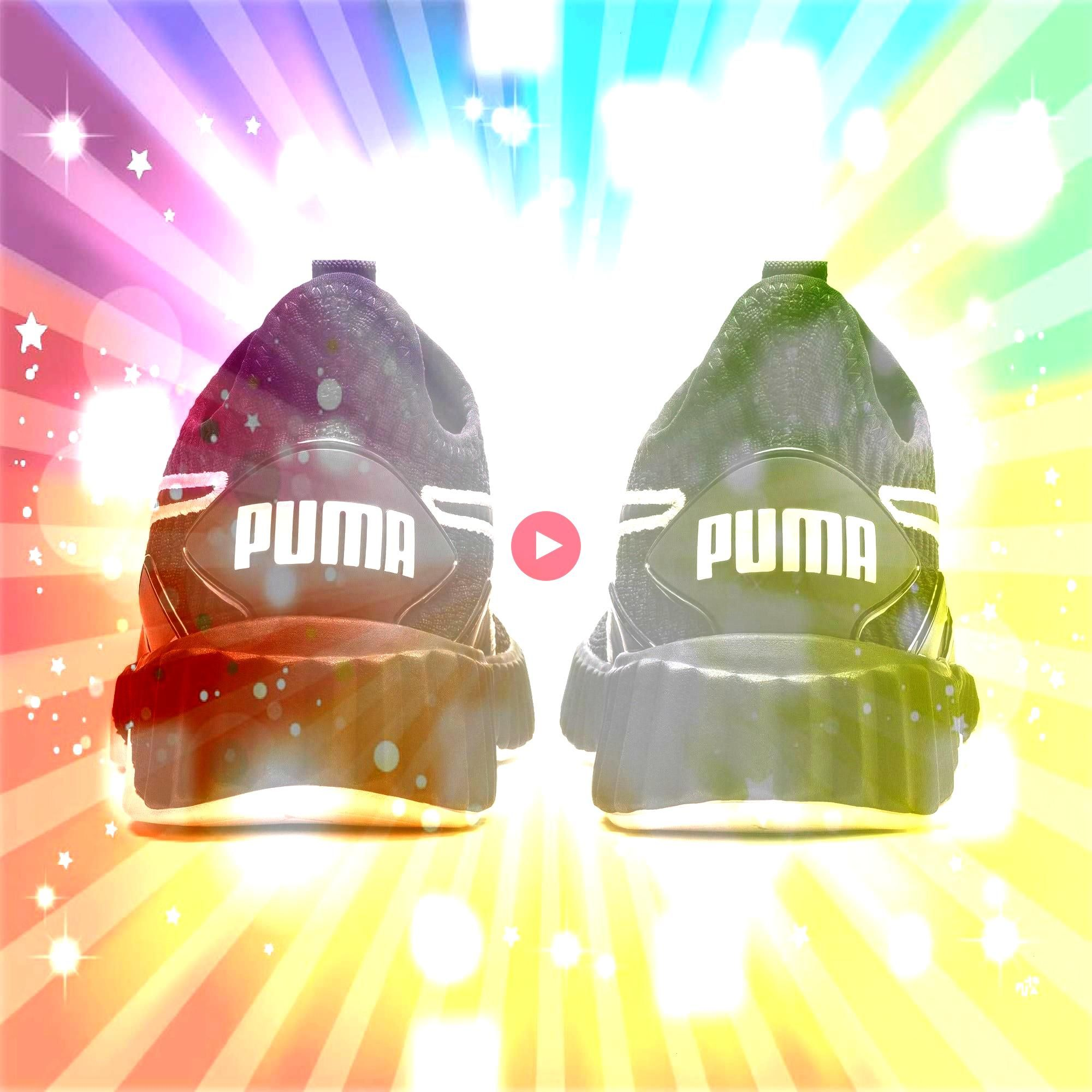 Womens Trainers in BlackPastel Parchment size 35 PUMA Defy Damen Sneaker in Schwarz  Pastell Pergament Größe 35PUMA Defy Womens Trainers in BlackPastel Parchme...
