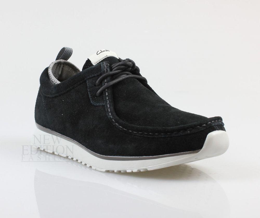 buy popular ce3d5 83dad Details about Clarks Men's Bushacre Lo Black Suede Casual ...