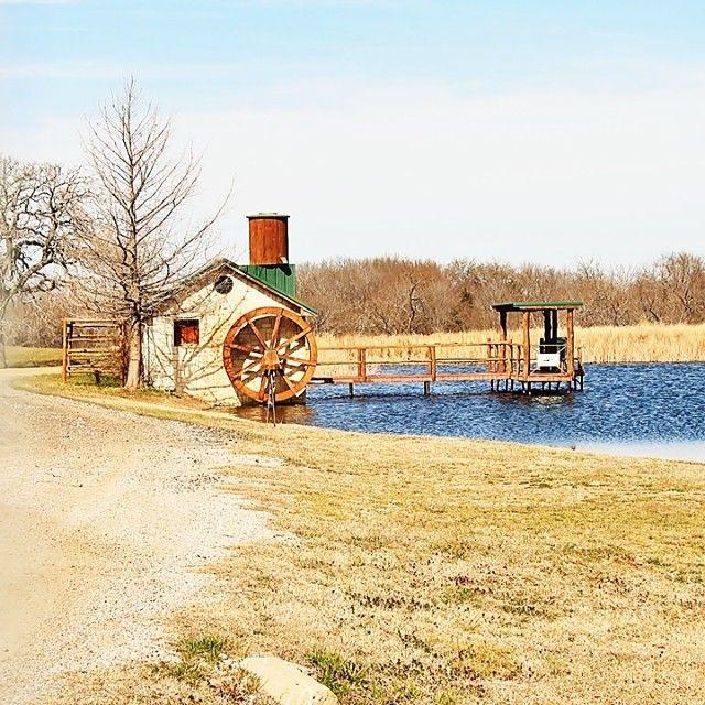 Best Metal Roof Tin Tower Wooden Dock Water Wheel • Vintage 400 x 300
